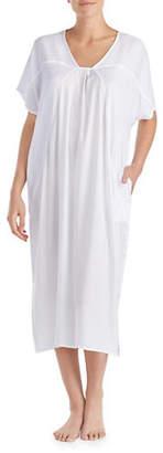 Donna Karan Pleated Caftan Nightgown