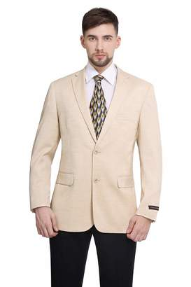 17aafd3509b2 P&L Men's Modern Fit Two-Button Blazer Suit Separate Jacket