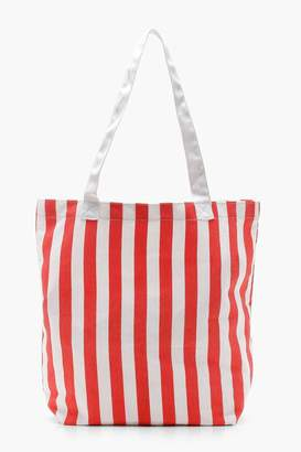 Boohoo Stripe Canvas Per Bag