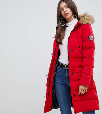 White Horse Brave Soul Tall padded parka coat