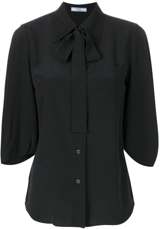Prada crepe de chine blouse