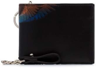 Marcelo Burlon County of Milan Black Wings chain wallet