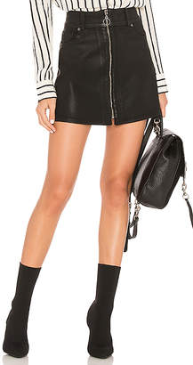 7 For All Mankind Zip Front Mini Skirt.