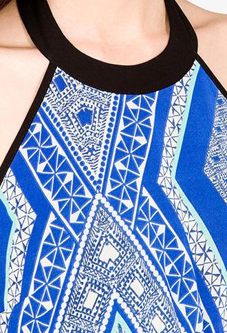 Forever 21 Tribal Print Halter Dress