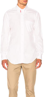 Thom Browne Classic Poplin Button Down with Ribbon Placket