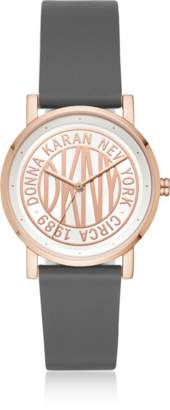 DKNY Soho Gray Leather Women's Watch