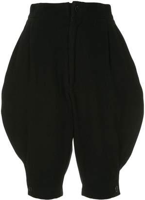 Yohji Yamamoto Pre-Owned cropped knee-length trousers