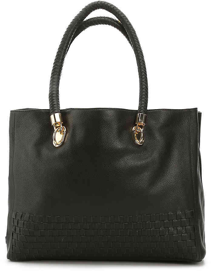 Cole Haan  Women's Benson Woven Leather Tote -Navy