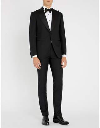 Corneliani Diamond-patterned academy-fit 18.24 microns wool tuxedo suit