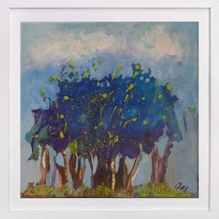 Notre petite fort bleue Art Print