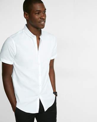 Express Slim Easy Care Diagonal Dobby Short Sleeve 1Mx Shirt