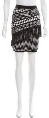 BCBGMAXAZRIA Patterned Knee-Length Skirt