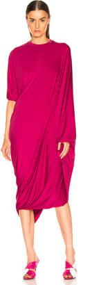 Vetements Asymmetric Evening Dress in Fuchsia | FWRD