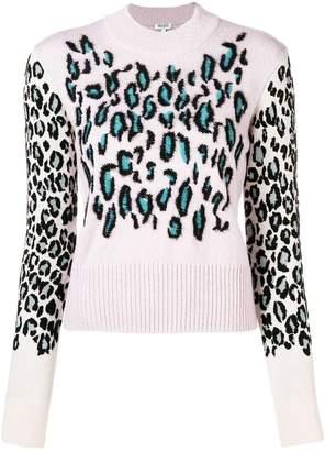Kenzo Leopard jacquard jumper