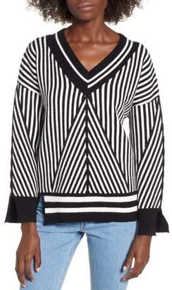 Moon River Asymmetrical Stripe Sweater