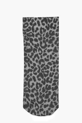 boohoo Leopard Print Ankle Socks