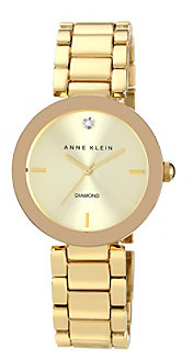 Anne Klein Women's Goldtone Adjustable Bracelet Watch
