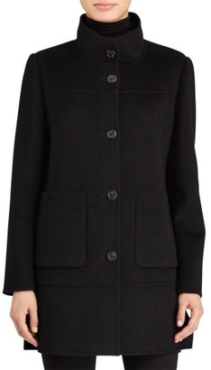 Women's Lauren Ralph Lauren Double Face Wool Blend Coat $320 thestylecure.com