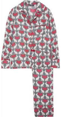 Three J NYC Coco Printed Silk Pajama Set