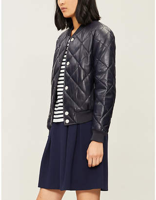 Claudie Pierlot Caprice quilted leather jacket