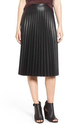 Trouvé Faux Leather Pleat Skirt $119 thestylecure.com