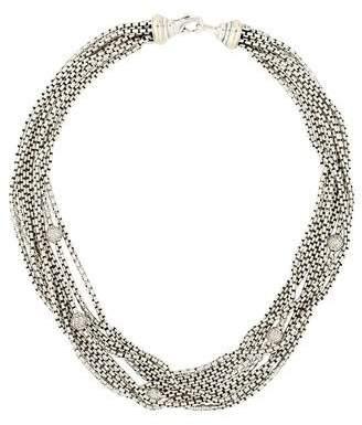 David Yurman Pavé Bead Multi-Strand Necklace