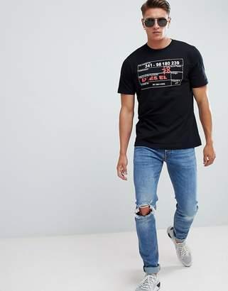 Diesel T-Just-W2 Scratch Logo T-Shirt Black