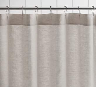 Pottery Barn Belgian Flax Linen Hemstitch Shower Curtain
