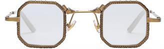 Square-frame metal glasses $690 thestylecure.com