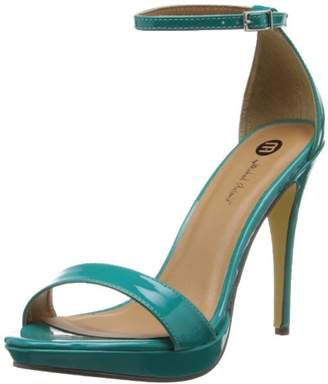 Michael Antonio Women's Lovina-Ptn Platform dress Sandal