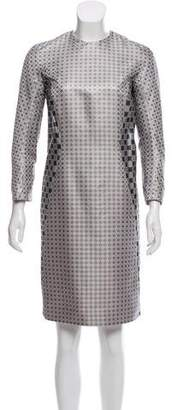 Thom Browne Jacquard Sheath Dress