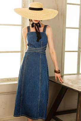 Genuine People Denim Midi Dress