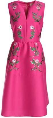 Kate Spade Flared Sequin-Embellished Duchesse Satin Dress