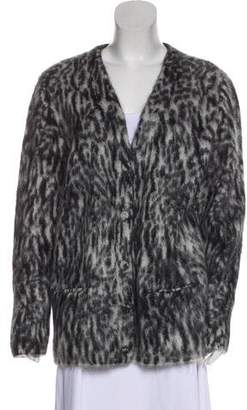 Saint Laurent Mohair Printed Cardigan