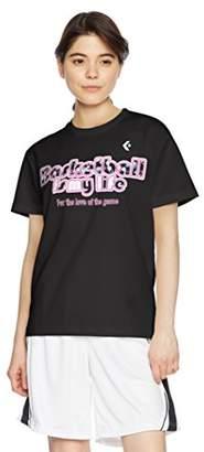 Converse (コンバース) - (コンバース) CONVERSE バスケットボールウェア ウィメンズ プリントTシャツ 18SS CB381302 [レディース] CB381302 1900 ブラック O
