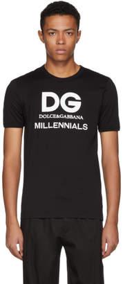 Dolce & Gabbana Black Millennials Logo T-Shirt