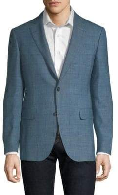 Pal Zileri Wool Windowpane Blazer