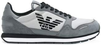 Emporio Armani panelled lace-up sneakers