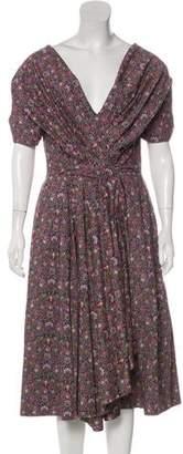 Zac Posen Floral Off-the-Shoulder Dress
