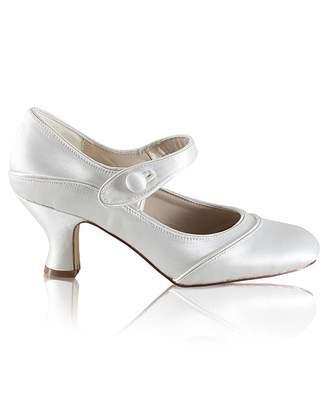 Perfect Esta Satin Button Bar Shoe