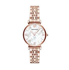 Emporio Armani Gianni T-Bar Rose Gold Watch