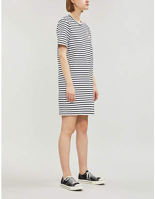 Markus Lupfer Alex Lara lip sequin-embellished striped stretch-cotton mini dress