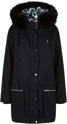 Claudie Pierlot Faux Fur Lined Coat