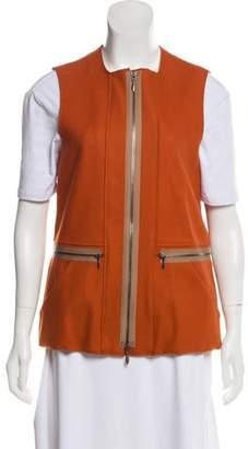 Marni Zip-Up Wool Vest