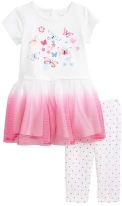 Little Me Butterfly Dress/Capri Set