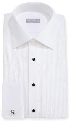 Stefano Ricci Pleated Tuxedo Shirt $1,125 thestylecure.com