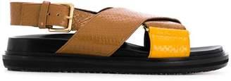Marni python-print Fussbett sandals