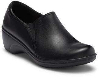 Clarks Grasp Chime Leather Wedge Slip-On - Wide Width Available