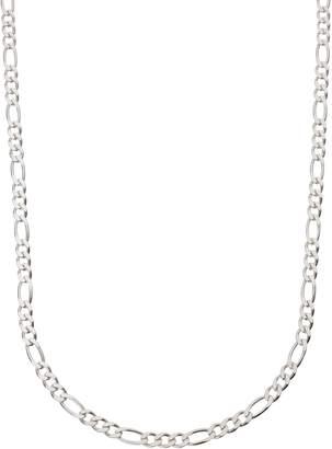 Revere Sterling Silver Solid Diamond Cut Figaro Chain