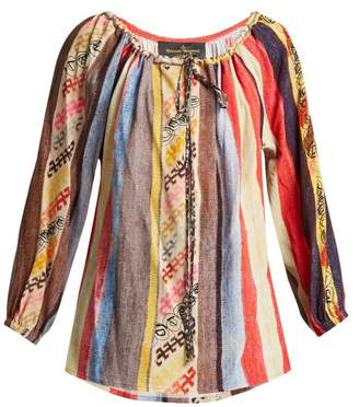 Vivienne Westwood Striped Crepe Blouse - Womens - Multi